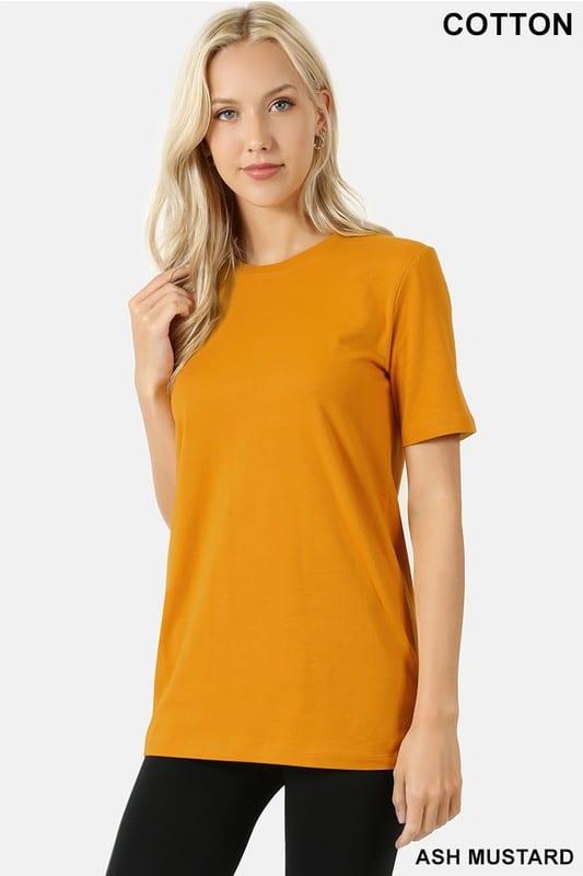 Cotton Crew Neck Short Sleeve T-Shirt