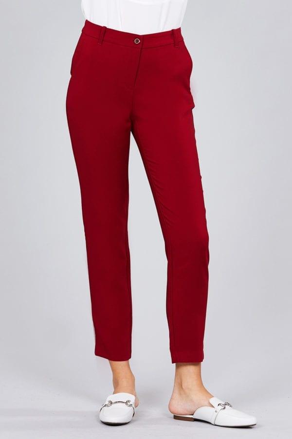 Seam Side Pocket Classic Long Pants (Plus)