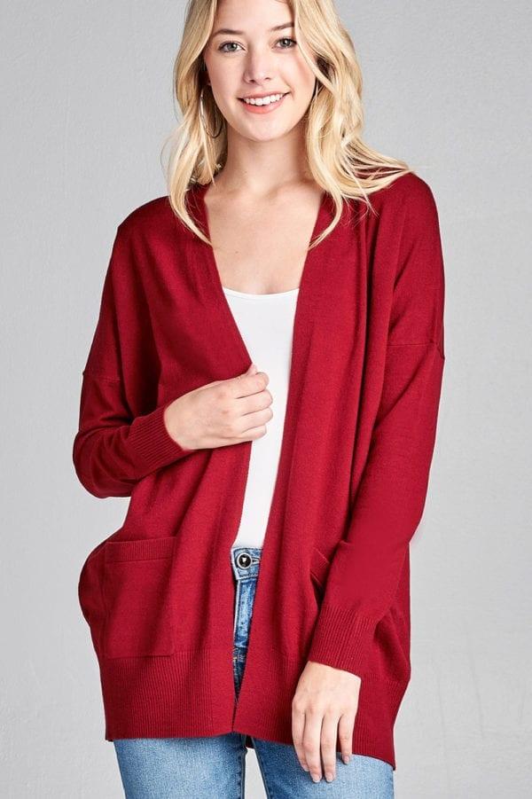 Long Dolman Sleeve w/ Pocket Sweater Cardigan