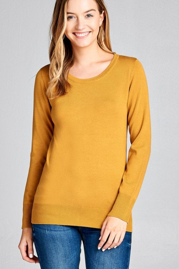 Long Sleeve Crew Neck Classic Sweater