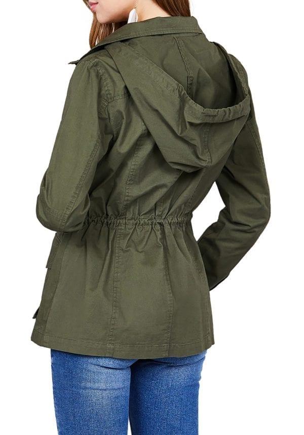 Cotton Utility Jacket w/ Hoodie