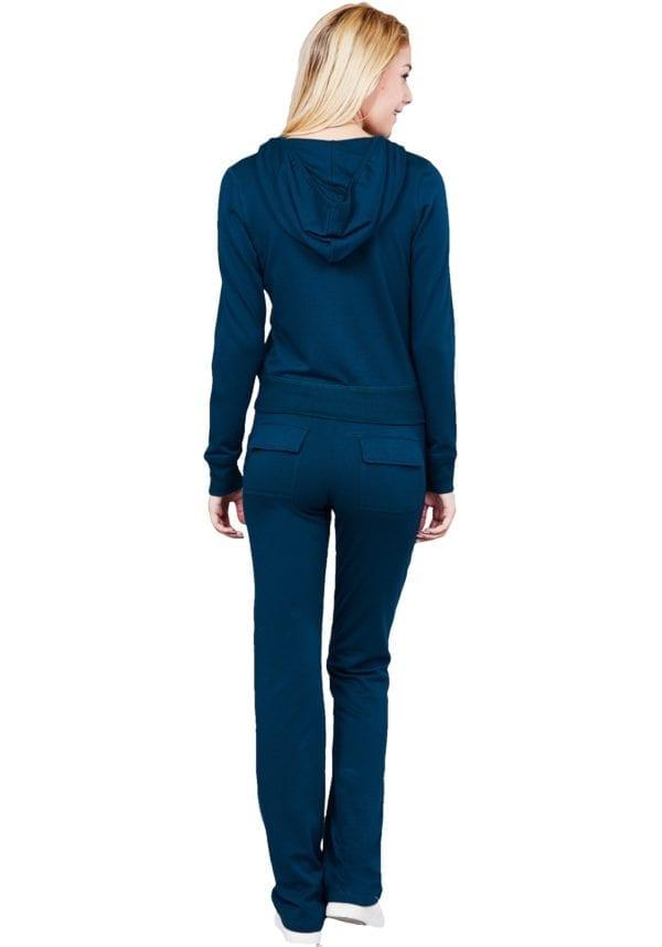 French Terry Activewear Set w/ Zip Up Hoodie Jacket & Pants