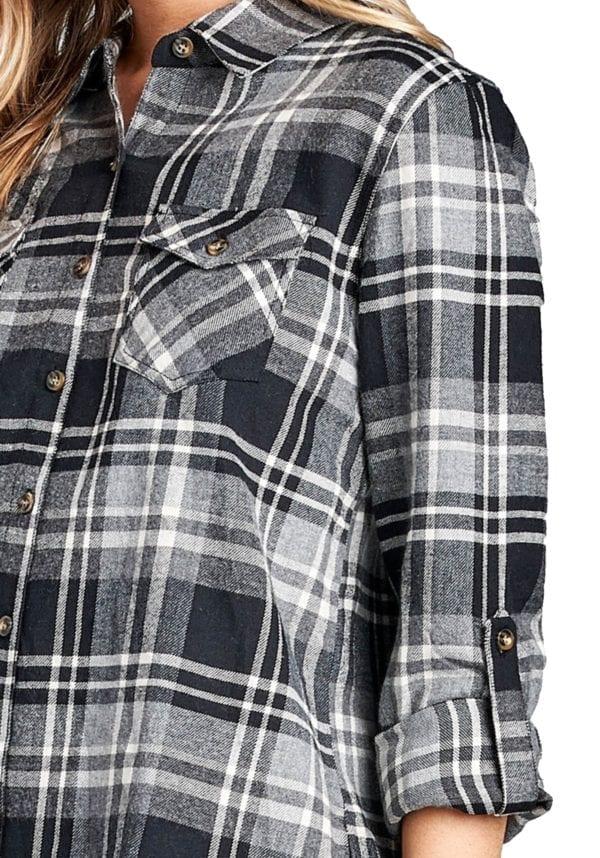 Long Sleeve Flannel Plaid Shirt