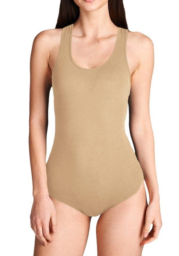 Sleeveless Scoop Neck Bodysuit