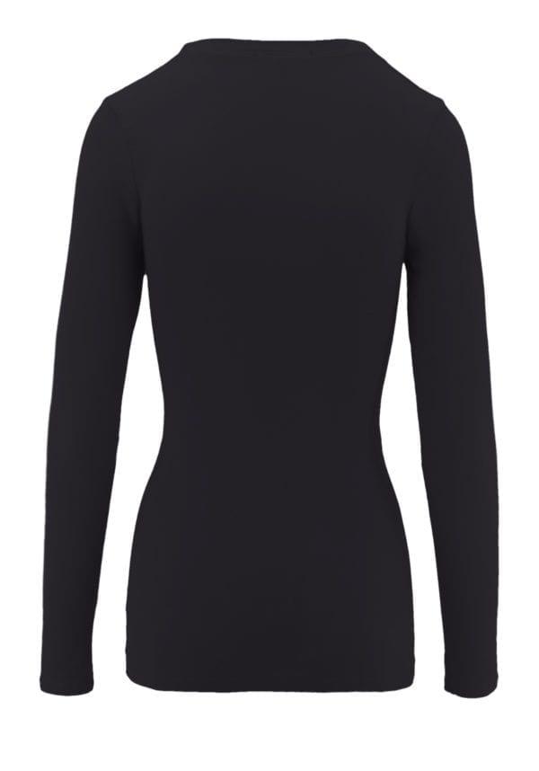 Round Neck Long Sleeve Basic Top