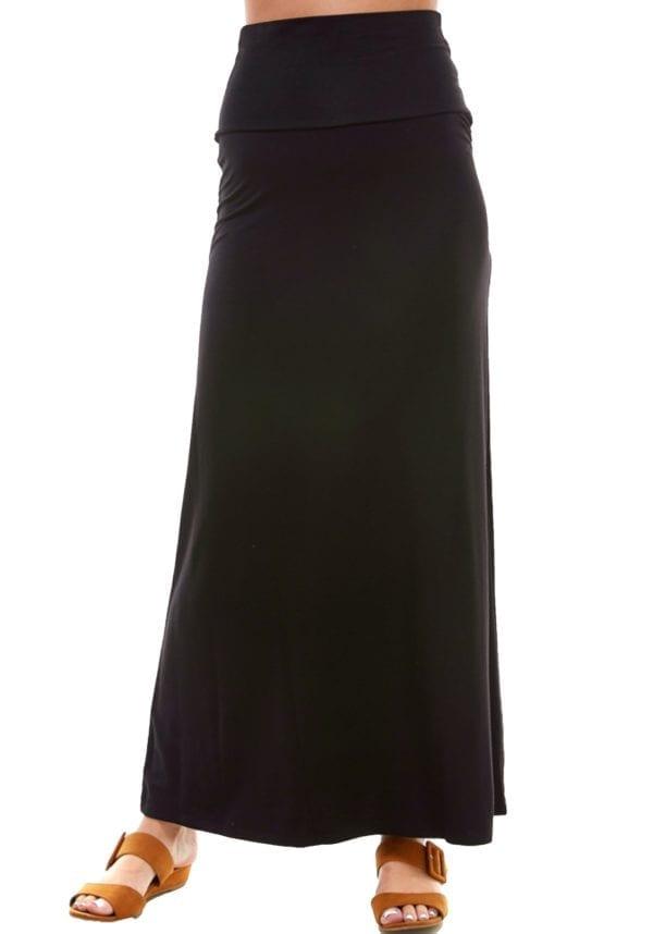 Rayon Span Maxi Skirt