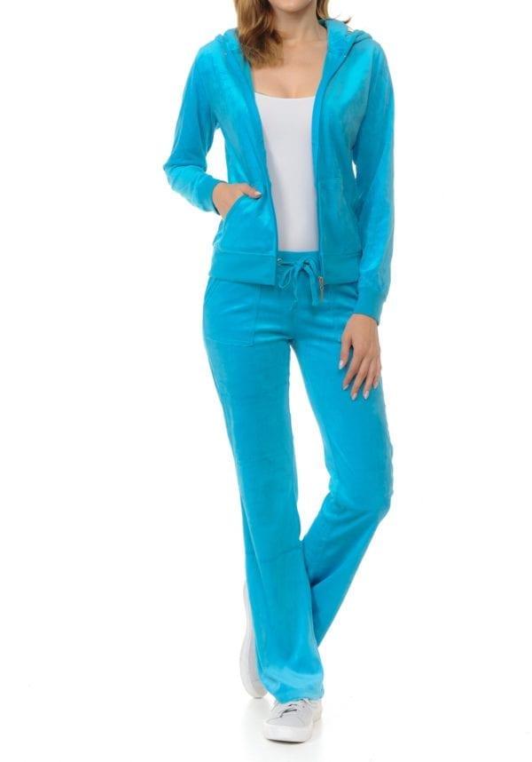 Hoodie & Sweatpants Velour Loungewear Set (Plus)