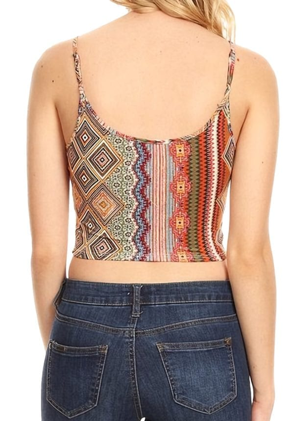 Cropped Fitted Cami Top Solid Colors and Prints