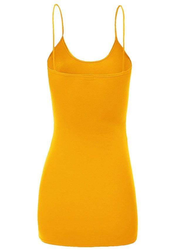 Adjustable Strap Basic Long Cami Tunic Tank Top