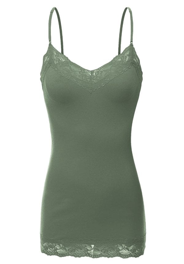 Lace Neck Camisole Top