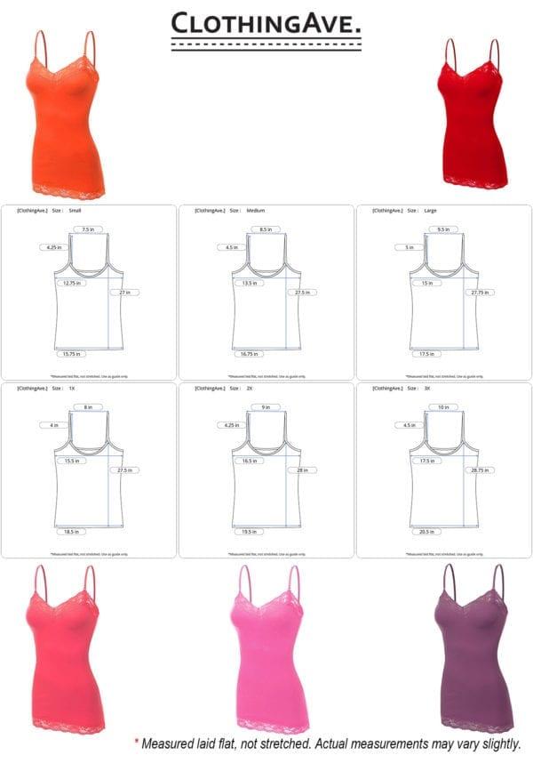 Lace Neck Camisole Top (Plus)