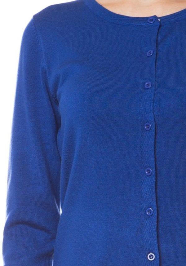 Classic Premium Button Up Crew Neck Cardigan (Plus)