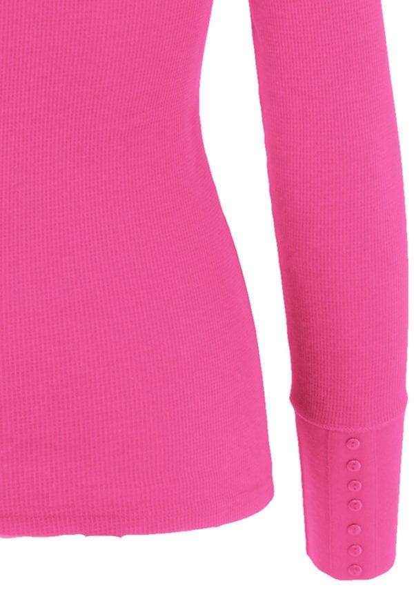 Basic Wideband Deep V-Neck Long Sleeve T-Shirt
