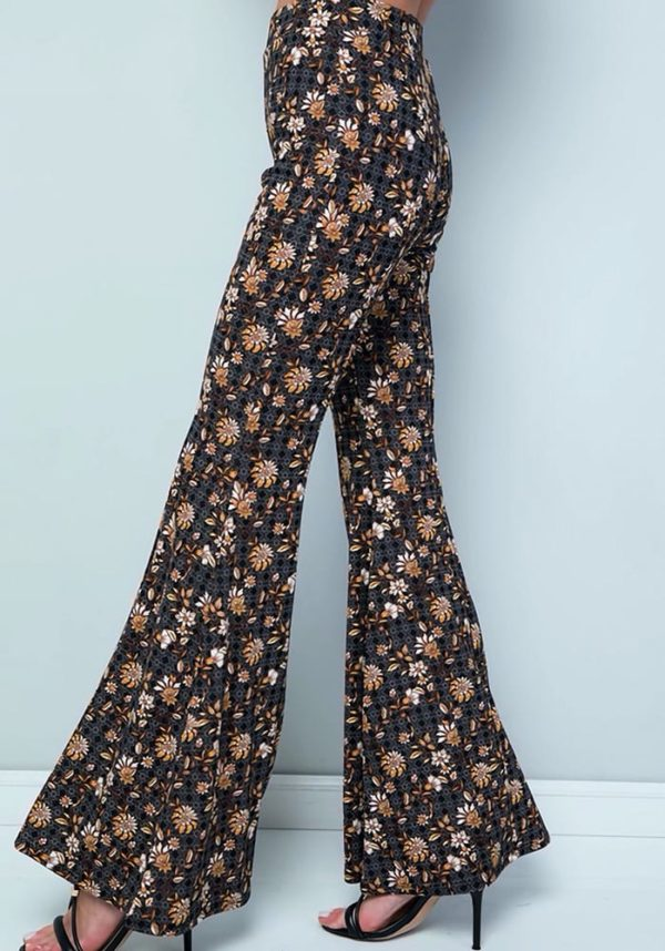 Stretchy High Waist Bell Bottom Flare Pants (Plus)