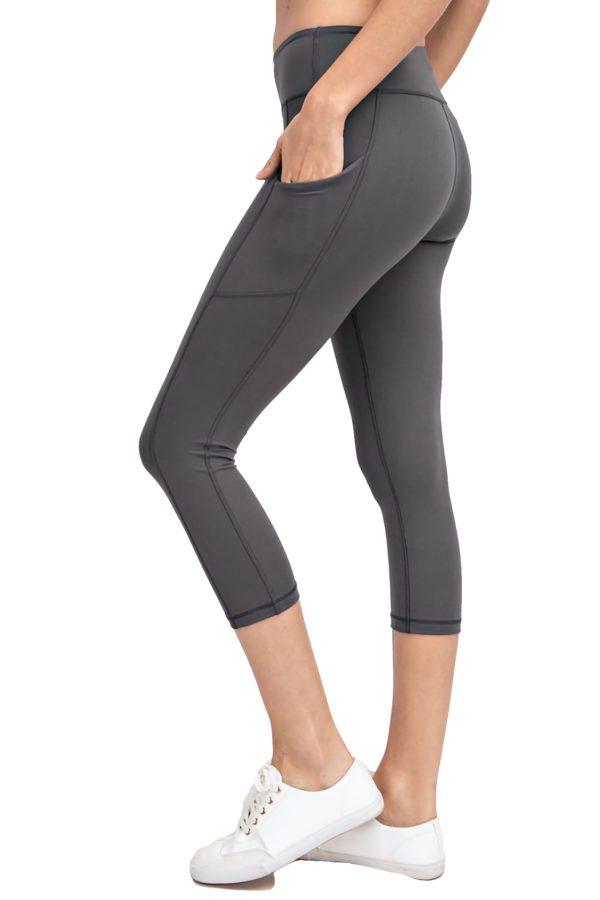 Buttery Soft Capri Length Yoga Pants w/ Pockets (Plus)