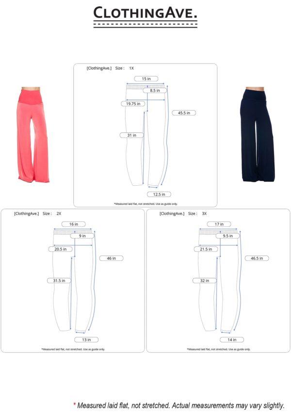 Fold Over Wide Leg High Waist Palazzo Pants (Plus)