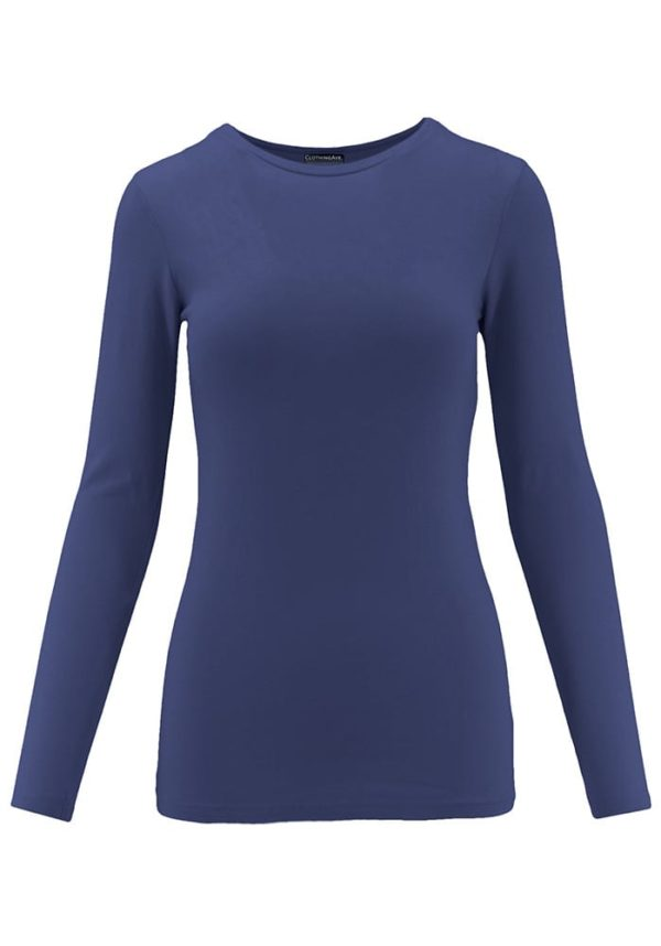 Long Sleeve Crew Neck Base Layer T-Shirt (Plus)