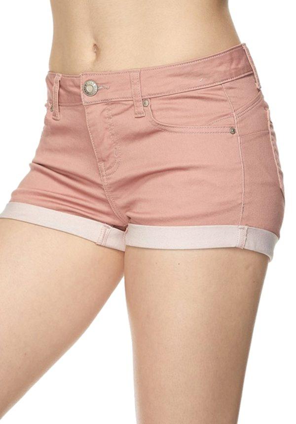 Basic 5 Pocket Fitted Denim Shorts