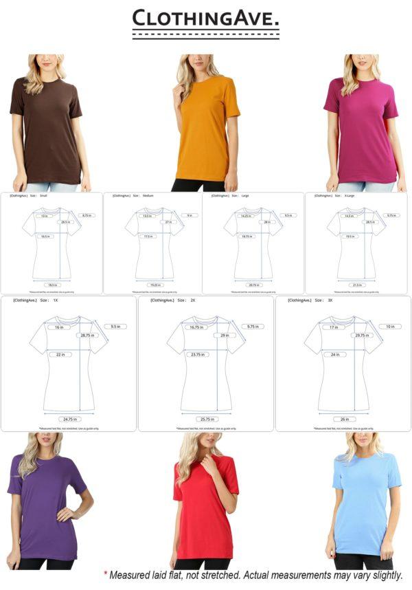 Cotton Crew Neck Short Sleeve T-Shirt (Plus)