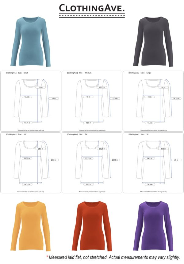 Crew Neck Cotton Blend Essential Long Sleeve Top (Plus)