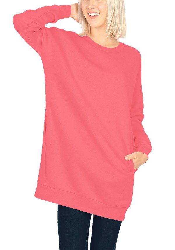 Oversized Round Neck Sweatshirt