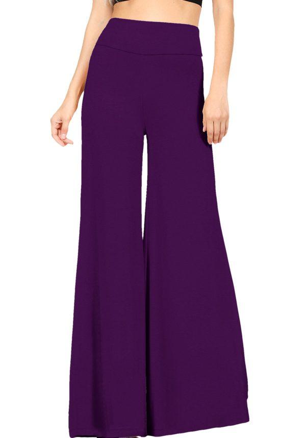 Premium Fabric Wide Leg High Waist Palazzo Pants