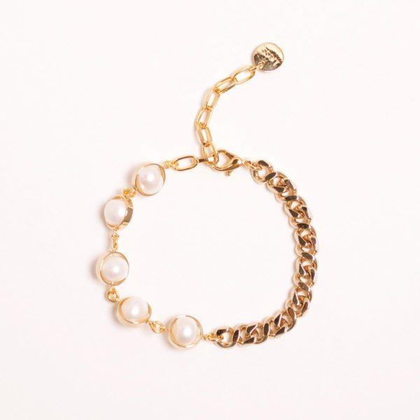 Half Chain Natural Pearl Bracelet