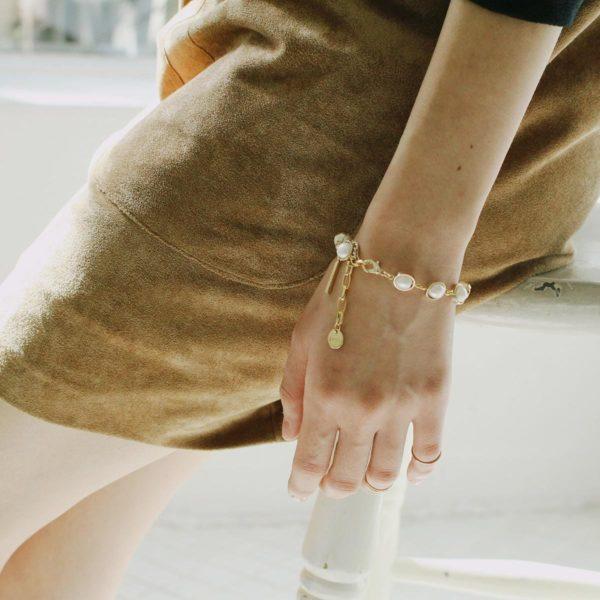 Natural Pearl Bar Stick Bracelet