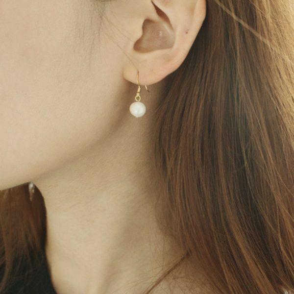 Natural Pearl Hook Earring