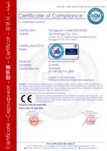 certificate kn95