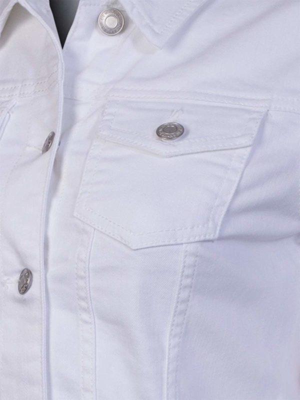 Women's Basic Casual Button Down Denim Jean Moto Jacket