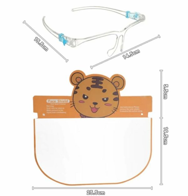 Kids Face Shield Protection Glasses Anti Fog Reusable