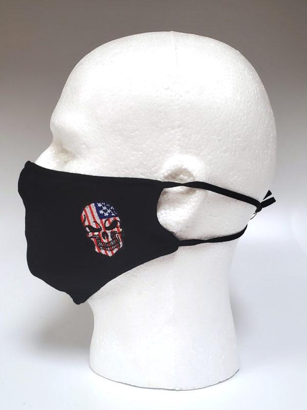 Embroidery Mask, Fashion Mask, Face Masks, Fabric Mask Washable Cotton Mask (Skull)