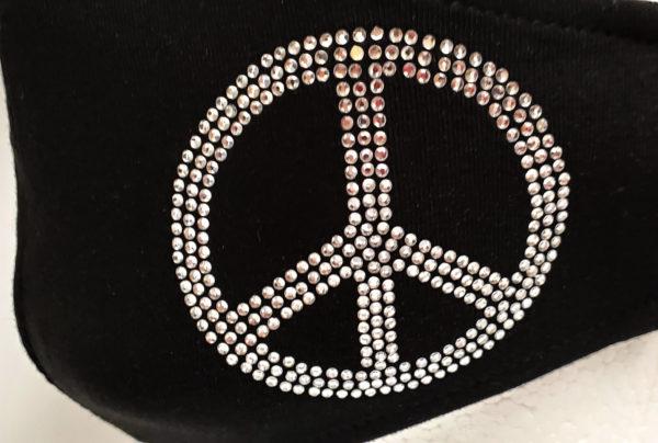Rhinestone Mask, Fashion Mask, Face Masks, Fabric Mask Washable Cotton Mask (Peace)