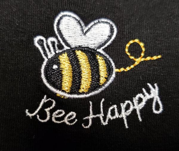 Embroidery Mask, Fashion Mask, Face Masks, Fabric Mask Washable Cotton Mask (Bee Happy)