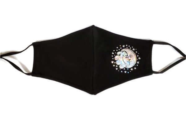 Foil Printing Mask, Hologram Mask, Fashion Mask, Face Masks, Fabric Mask Washable Cotton Mask (Sun&Moon)