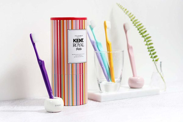 [KENT] PETITE Small Head Gentle Soft Toothbrush for Sensitive Teeth - Compact Size - Pack of 10