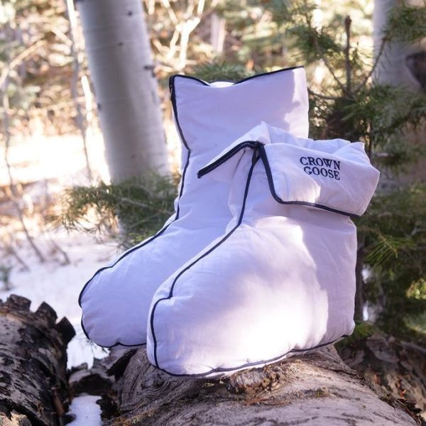 Crown Goose Mellow Goose Down Indoor Boots - White