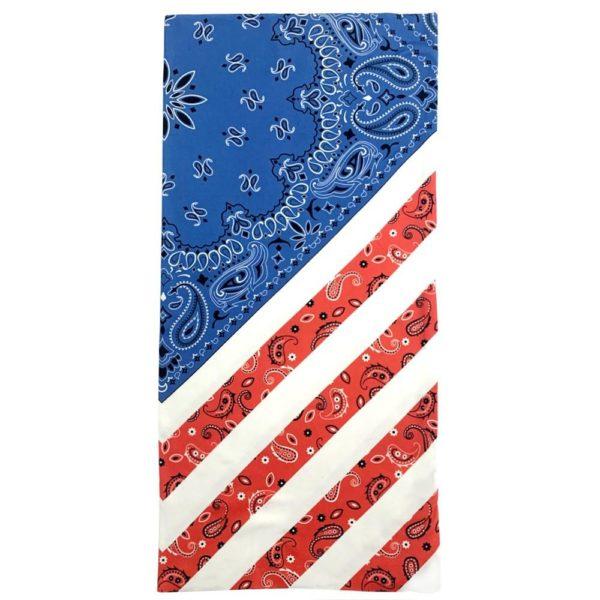 Cowboy Style American Flag Bandana