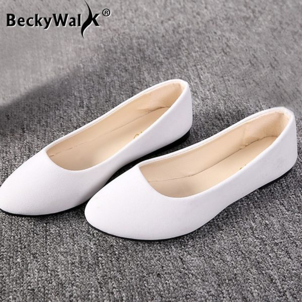 20 Colors Spring and Summer Wear Women's Flat Shoes Large Comfortable Shoes Female Candy Color Shoes Loafers EU 41/42/43 WSH2214