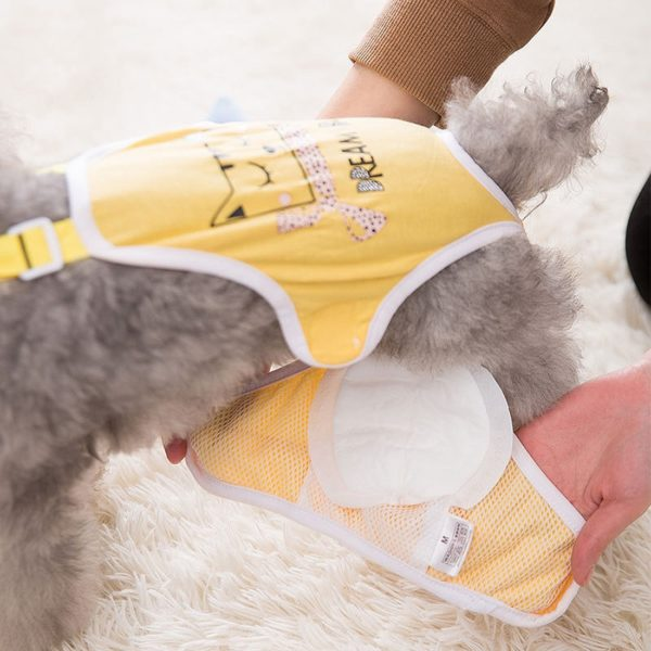30pcs Dog Diaper Breathable Small Reusabl Pet Diaper Pads Male Dog Sanitary Pants with Suspenders Comfortable Doggie Diapers