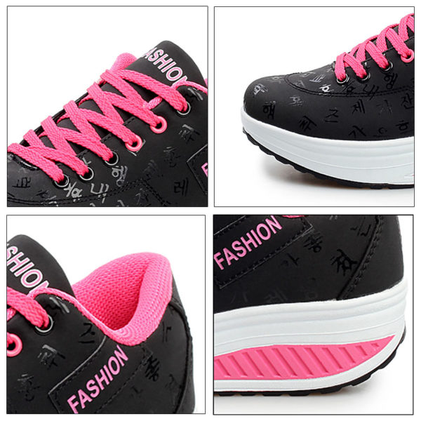 Akexiya Women Sneakers 2019 Breathable Waterproof Wedges Platform Vulcanize Shoes Woman Pu Leather Casual Shoes tenis feminino