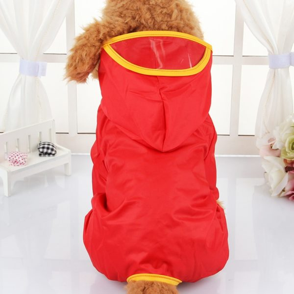 Brand Hooded Pet Dog Raincoats Waterproof Clothes For Small Dogs Chihuahua Yorkie Dog Raincoat Poncho Puppy Rain Jacket XS-XXL