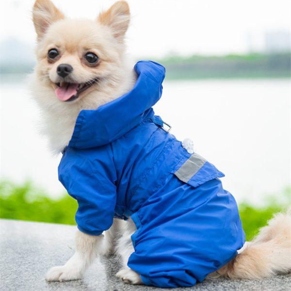 Dog Raincoat Reflective Pet Clothes Dog Clothing Waterproof Jumpsuit Jacket Yorkie Poodle Bichon Pomeranian Schnauzer Corgi Coat