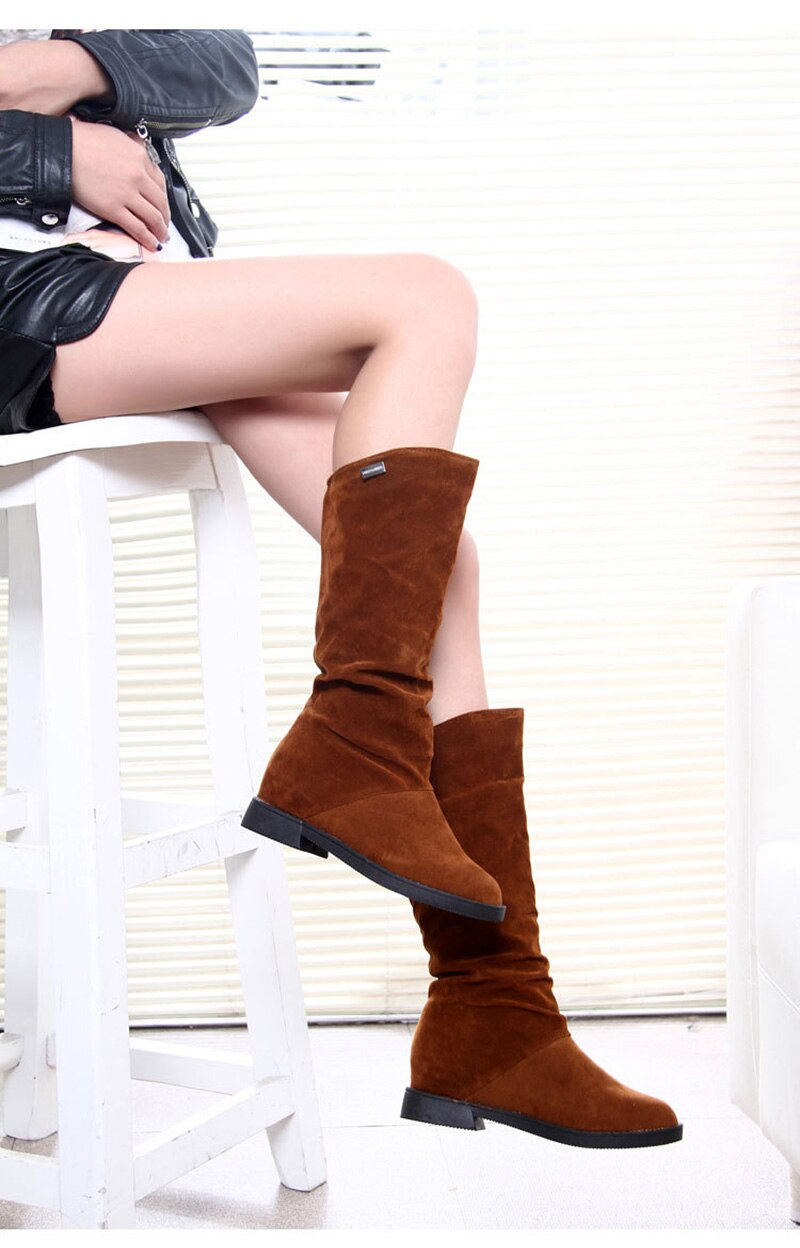 2020 Snow Boots Women Winter Shoes Casual Woman High Boots Black Red Soft Comfortable Female Footwear A1749