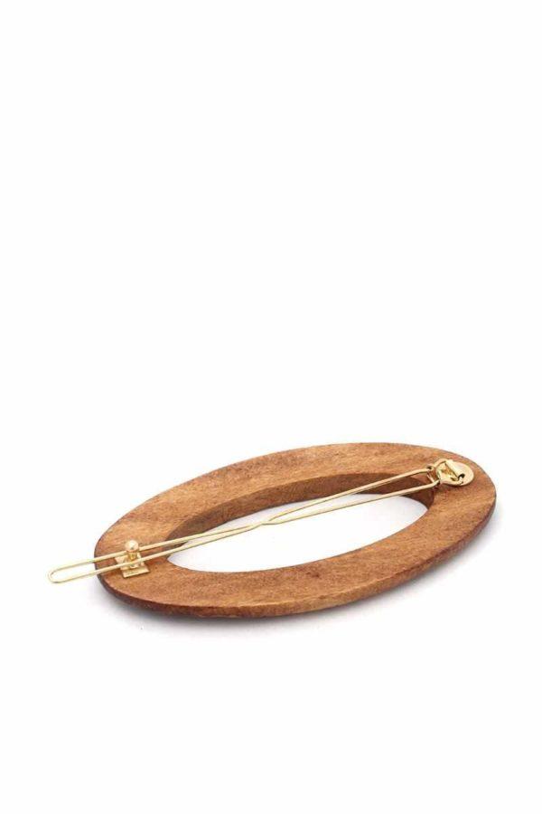 Wooden Rectangular Hair Pin