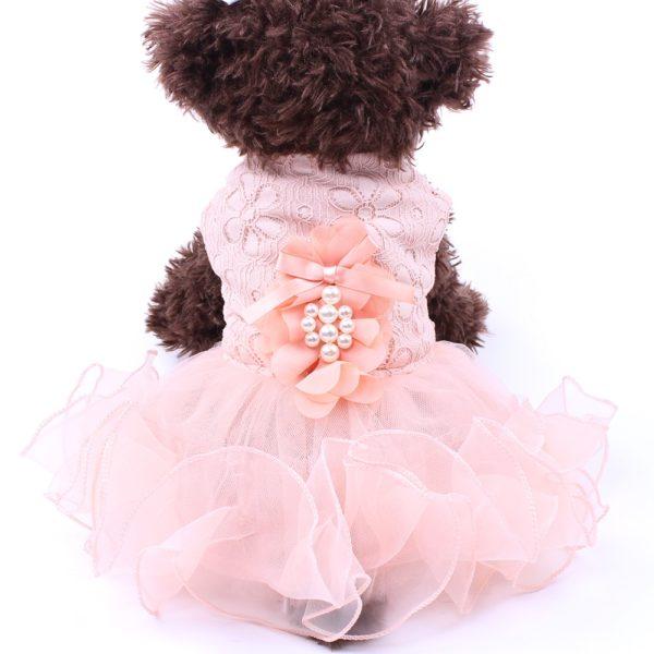 New Dog Cat Princess Wedding Dress Tutu Flowers Lace Design Pet Puppy Wedding Party Apparel 3 Colours 4 Sizes