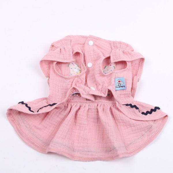 New Princess Dog Cat Dress Shirt 100% Cotton Flower&Lace Cat Puppy Skirt Sprin/Summer Apparel Outfit