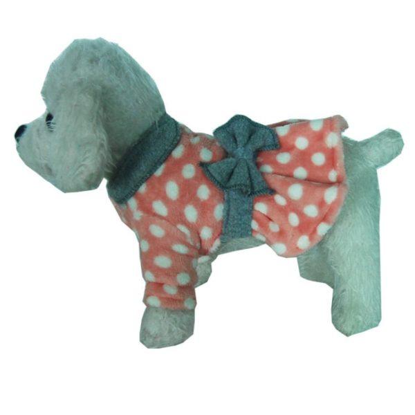 Winter Dog Dress Cat Puppy Dog Clothes Pet Dresses Fleece Warm Dog Clothing Chihuahua Yorkie Yorkshire Pomeranian Schnauzer Coat