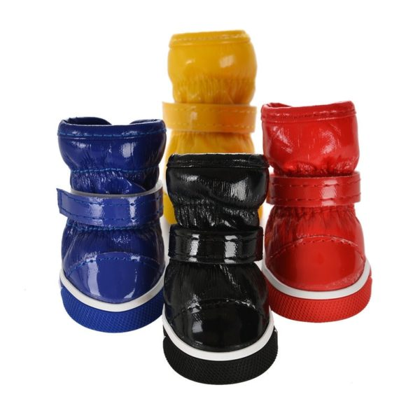 Winter Pet Dog Shoes For Small Dogs Warm Fleece Puppy Pet Shoes Waterproof Dog Snow Boots Chihuahua Yorkie Shoes Pet Products